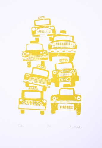 New York taxi 'Cabs' print
