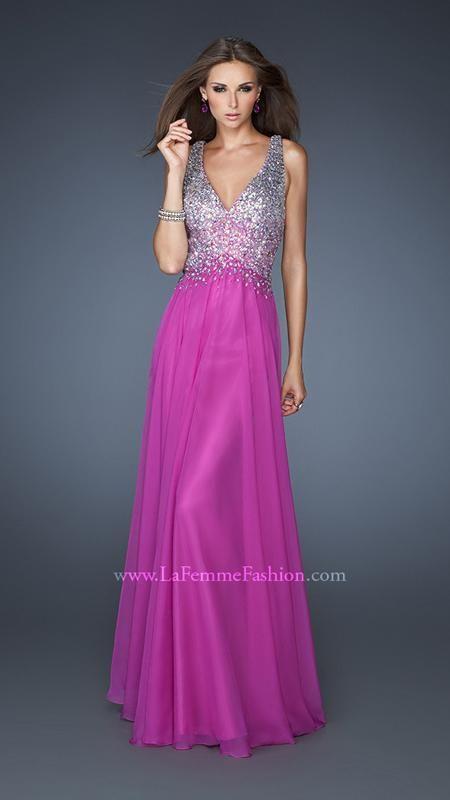 { 18631 | La Femme Fashion 2013 } La Femme Prom Dresses - Keyhole Back - Bejeweled Bodice