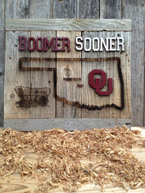 OKlahoma Sooner State Cutout 12 x 17 approx. Item by LaserZStudio, $50.00