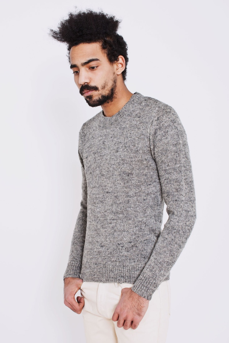 Our Legacy grey melange linen sweater