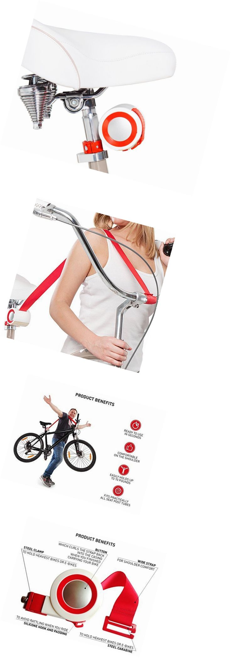 Bicycle Transport Cases and Bags 177835: Bike Lift And Carry: A Strong Retractable Strap To Carry Your Bike Or E-Bike Ups -> BUY IT NOW ONLY: $54.62 on eBay!