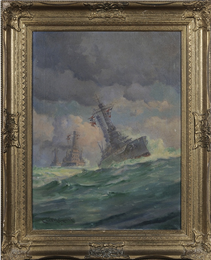 "Charles Henry Grant. ""U.S. Battleships on the Open Sea"". A part of me is meant for sea. Sold for $885 on May 12, 2012."