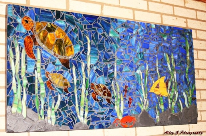 Underwater World Stained Glass Mosaic On Wood 4 39 X2