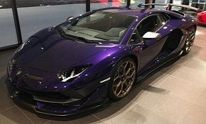 Viola Aletheia Lamborghini Aventador Svj Is Dressed For The Occasion