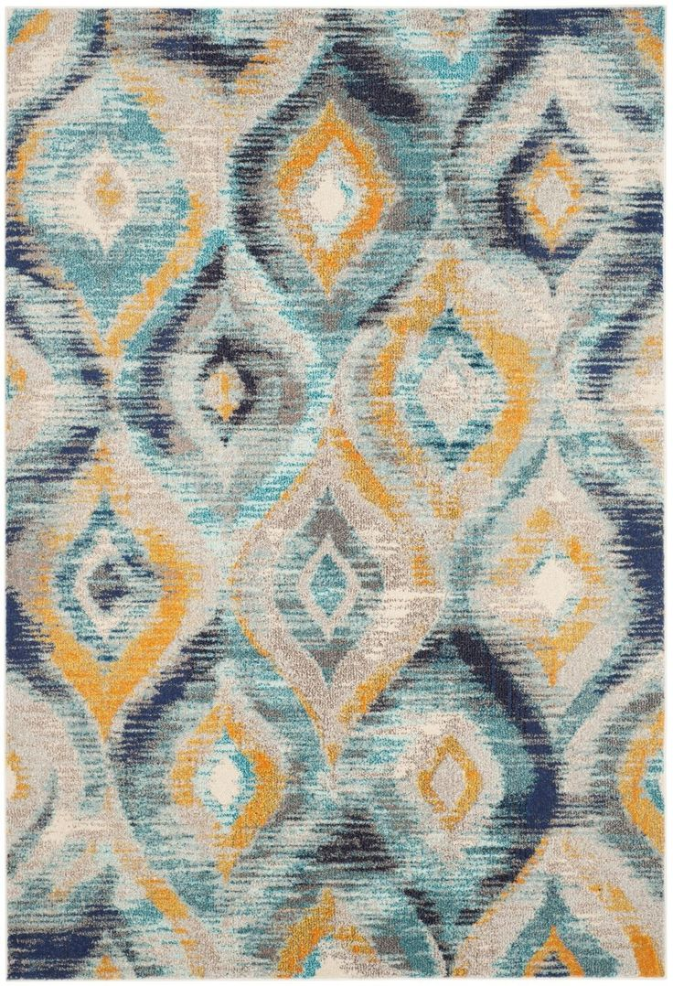 safavieh monaco blueyellow area rug - Blue And Yellow Bedroom Rugs