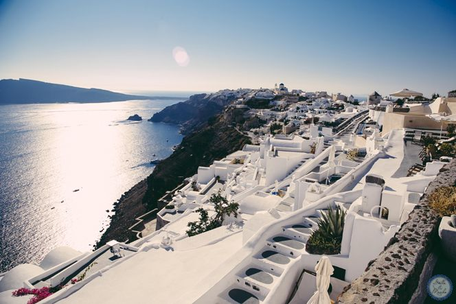 Wedding Venue   Santorini Wedding by Stella and Moscha - Exclusive Greek Island Weddings   Photo by Nikos P. Gogas