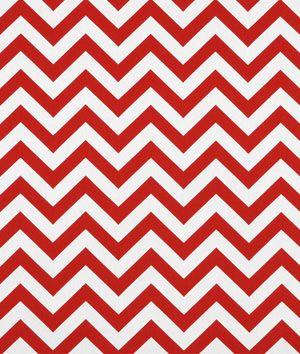 Premier Prints Zig Zag Lipstick/White Fabric