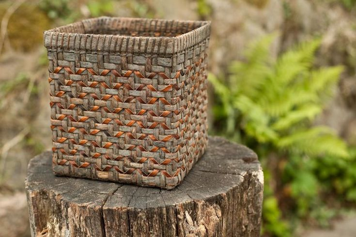 Willow bark basket by Joan Carrigan