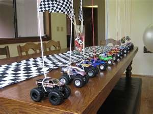 cute birthday party idea, Monster Truck.