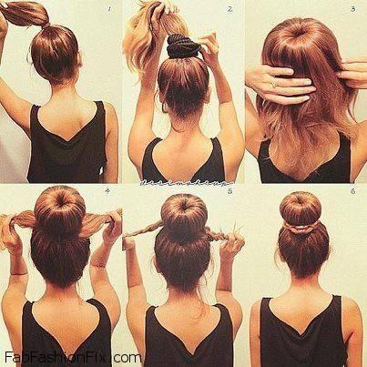 Fantastic Donut Bun Bun Hair Styles And Bun Hair On Pinterest Short Hairstyles For Black Women Fulllsitofus
