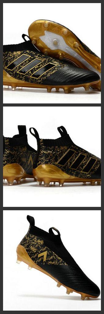 Nuove sul mercato del calcio - Nuove Scarpette da Calcio Adidas Ace 17+ Purecontrol FG Paul Pogba Capsule Oro Nero 143€ scarpedacalciomagista.com