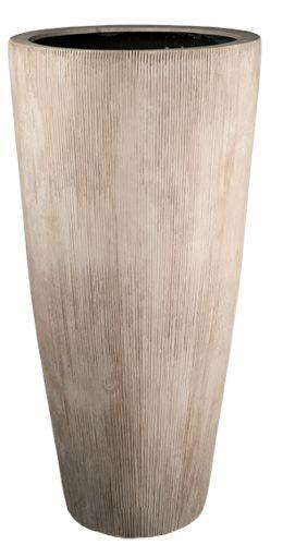 Plantenbak Java VTW De Java is een grote pot een eyecatcher in de woonkamer of op een terras. Verkrijgbaar in 2 maten. Het gebruikte materiaal is Fiberstone (mengsel van polyester, gemalen graniet en fiberglas), dit maakt de pot supersterk en niet zwaar, maar zorgt wel voor een natuurlijke uitstraling. Lichtgewicht en vorstbestendig. De gehele fiberstone-collectie is zowel voor binnens-als buitenhuis geschikt en zijn verkrijgbaar in uiteenlopende vormen en kleuren. Materiaal: Fiberston...