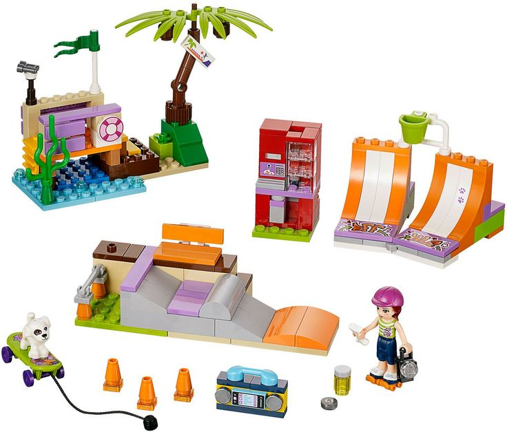 Product Description. Get ready to horse around with the LEGO Friends Heartlake Stables. This adorable set comes with two Friends mini-dolls, Mia and Katharina, along with their two lovely horses.