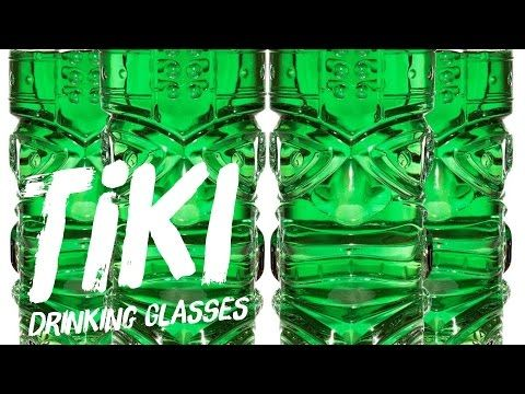Ideal For A Hawaiian Party! If you love all things tiki then you will love this funky drinking glass set Cool Tiki Cocktail Glasses ideal for Long Island Ice Tea - watch on YouTube