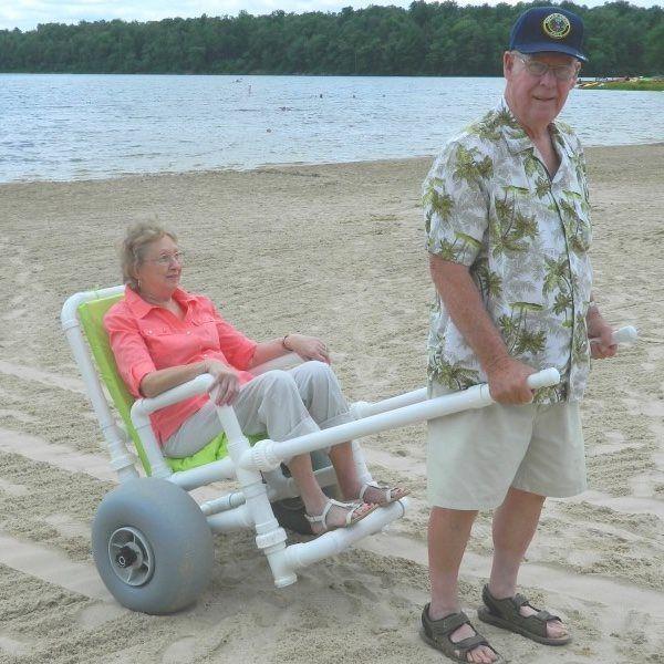 Cadeira de rodas PVC Praia