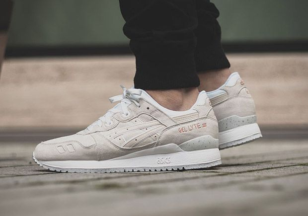 asics gel-lyte iii christmas pack snowman - light grey / cream