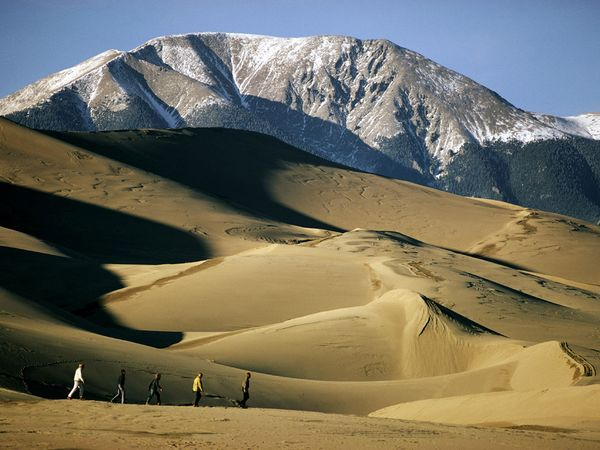 """Pinterest's Brittany Vaughn grew up in Colorado and loved visiting the Great Sand Dunes. """"We spent every summer on the road in my dad's old Scout truck and our best memories were off-roading, surfing the dunes and splashing around in the shallow lakes at the base of the sand."""""""