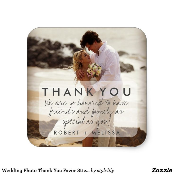 Wedding Photo Thank You Favor Stickers 242