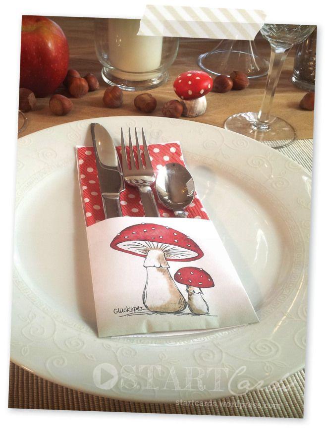 DIY - Bestecktaschen falten - Servietten falten - Anleitung - kostenlose Vorlage - silverware cutlery pouch - napkin folding - tutorial - printable freebie