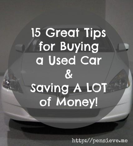 The key to having more, is to spend less. New SUV time for me soon. I must do my traditional 903843948374 years of research first!       15 Great Tips for Buying a Used Car