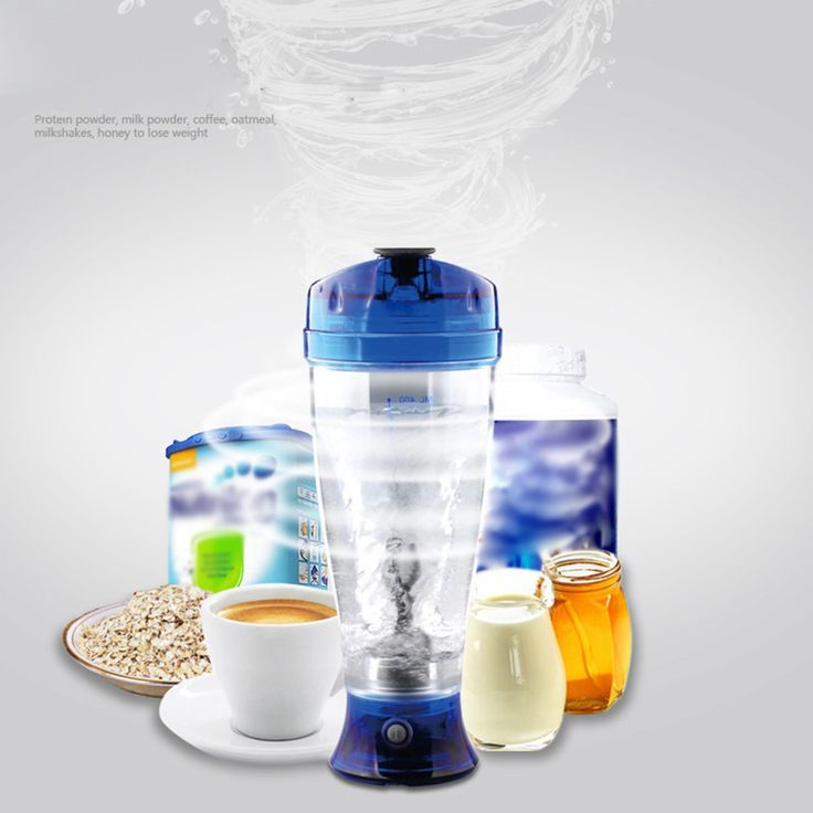 Electric Blender Tornado Protein Shaker Bottle Automatic Vortex Tornado Cup 450ml BPA-free Cup X-blade Technology 2-AAA Battery