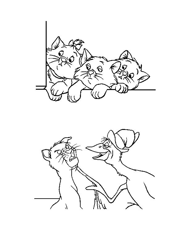 aristocats toulouse coloring pages - photo#13