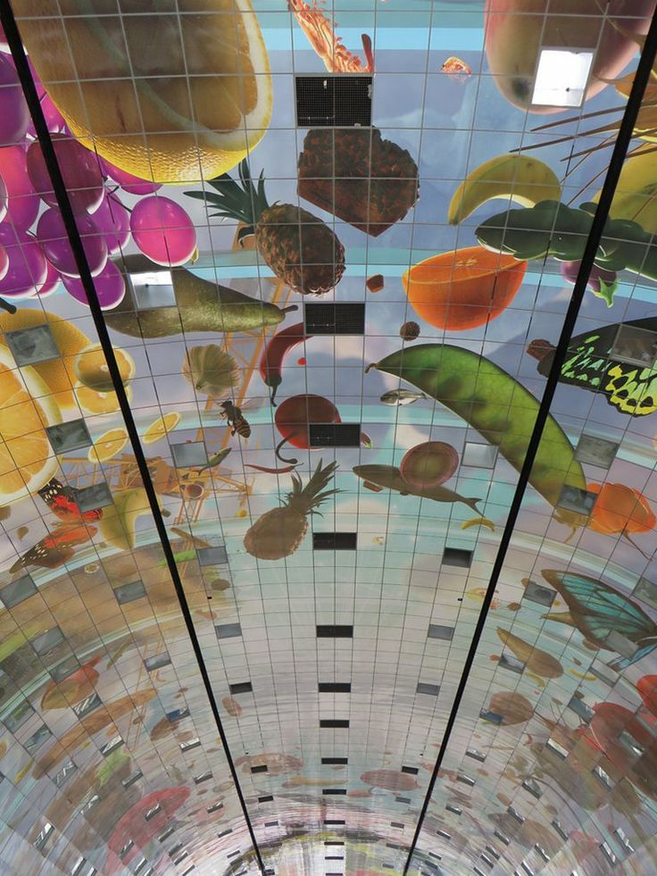 Más De Ideas Increíbles Sobre Rotterdam Market En Pinterest - Incredible 36000 sq ft mural lines ceiling market hall rotterdam