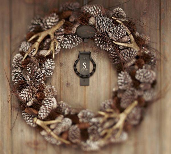 Antler & Pinecone wreath