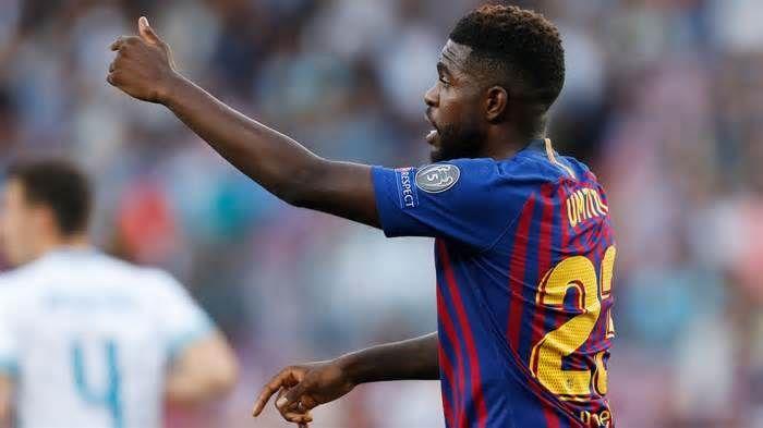 Live Transfer Talk Arsenal To Chase For Barcelona S Samuel Umtiti Get The Latest News For Barcelona Inside Pinterest On This Boar Barcelona Football Arsenal