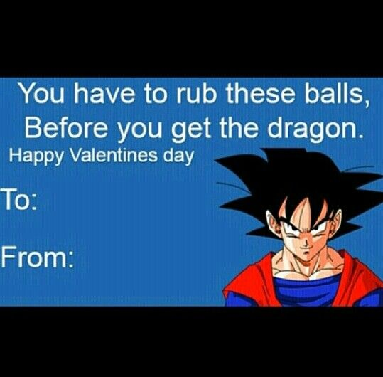 Funny Valentines day cards dragonballz my humor – Dragon Valentine Cards