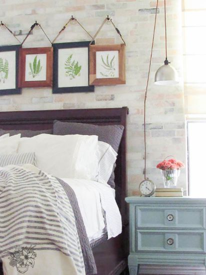 Romantic Industrial Bedroom - This is soooo my style!  Love everything about it!