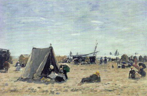 Eugène Boudin, Berck, Beach Scene, 1882 on ArtStack #eugene-boudin #art