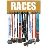 Running Medals Display Rack - RACES | Medal Displays | | Medal Hangers | | Running Medal Holder | | Medal and Bib Display | #MedalDisplays #MedalHangers https://www.runrilla.com/