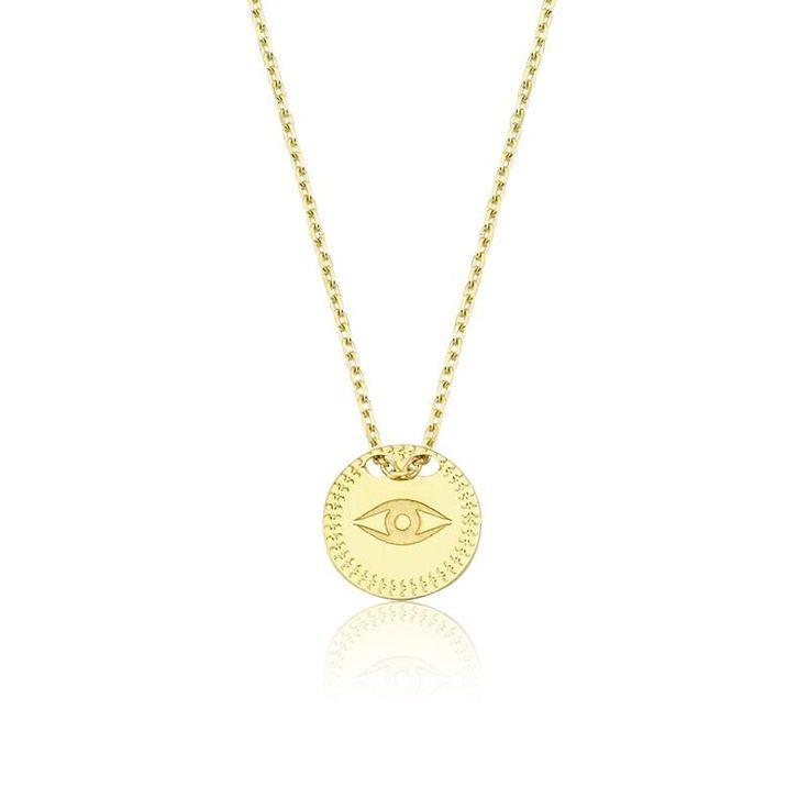Altın Nazar Kolye #altınbaşlife #kolye #altın #takı #tasarım #hediye #gift