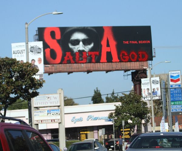 Sons of Anarchy Billboard VANDALIZED...
