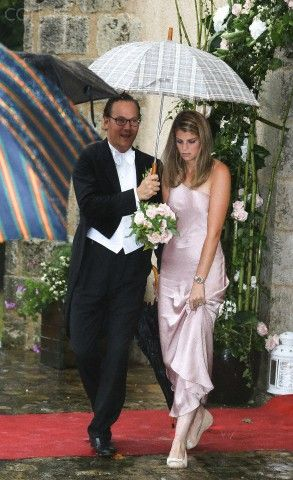 Athina Onassis Attends The Wedding Of Her Half Sister Sandrine Roussel In France
