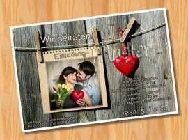 Einladungskarten Einladungen Hochzeit MUSTER 27   Bild Vergrößern