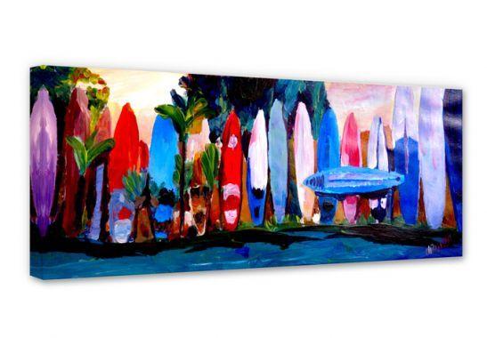 Stampe su tela - Stampa su tela - Bleichner – Surf - Panorama