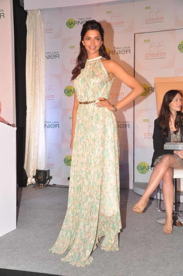 Padukone is statuesque in a summery maxi, December 2012.