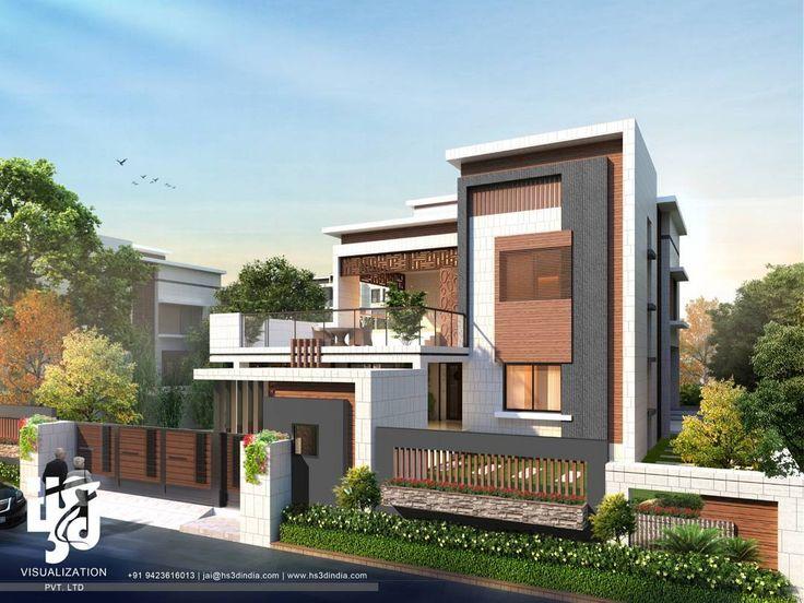#modernarchitecture  #exteriordesigns #3DRENDER DAY VIEW BY www.hs3dindia.com @nirlepkaur_id #3dvisualization #cgi