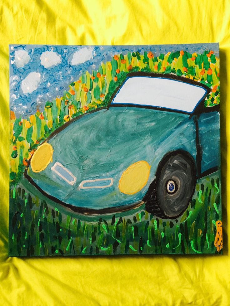 Car art, my first painting