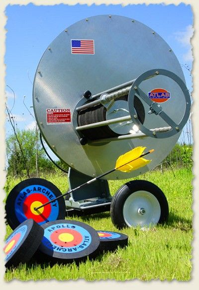 The Atlas Apollo archery target thrower. Yep. Want one.