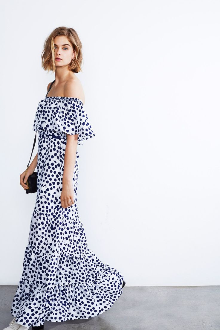Rebecca Minkoff, pre-spring/summer 2015 fashion collection: Maxi Dresses, Fashion, Polka Dots, Style, Rebecca Minkoff, Summer, Resort 2015, Minkoff Resorts, Resorts 2015