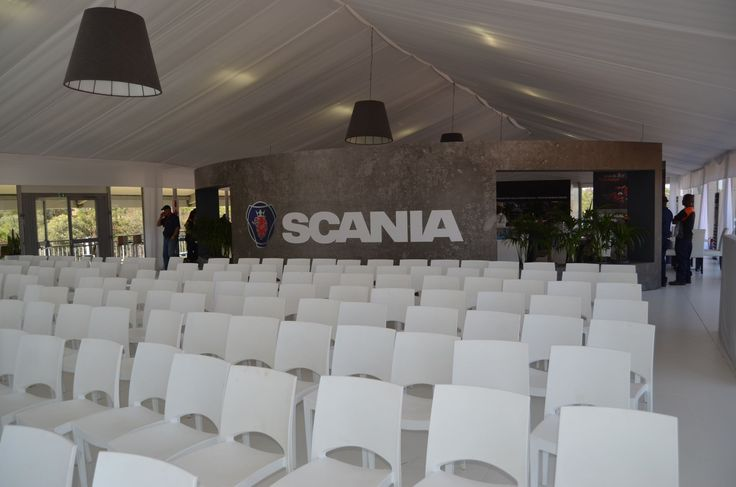 Scania at Gerotek Test Facilities - Double Decker Marquee, First floor Presentation Area - OCT 2016
