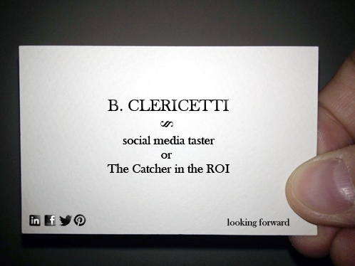 13/01/29 - I was wondering about the Return Of Investment: where do the ducks go? Well, follow them on Foursquare... #bclericettijobs #businesscard #newjob