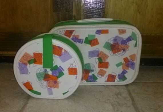 Vintage Children's Luggage Suitcase Set of 2 1960s by RayMels