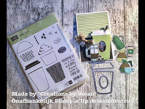 Tutorial Stampin'Up shaker/sliding card using Coffe Card bundel