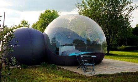 Poitou-Charentes : 1 ou 2 nuits en bulle Classique ou Familiale avec petits déjeuners aux Bulles d'O pour 2 à 4 pers.: 119.00€ au lieu de…