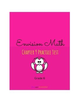 Envision Math- Ch 9 Practice Test Grade 6 | Education