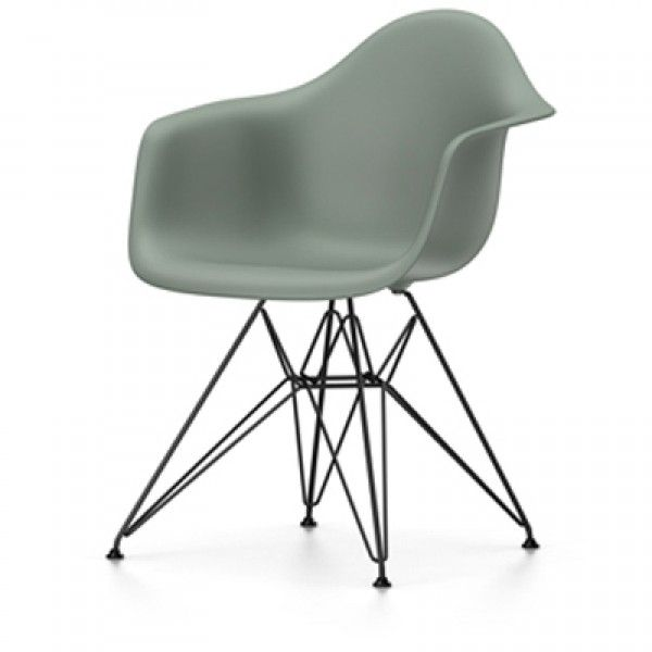Eames DAR stoel met zwart gepoedercoat onderstel (nieuwe afmetingen) | Vitra